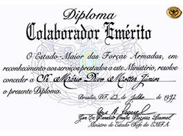 Certificado de EMFA - Estado Maior das Forças Armadas
