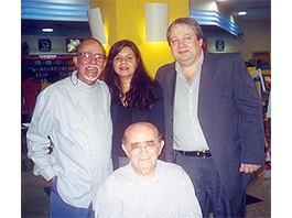 Paixão de Verão - Antonio Olinto, Luiz Viera e esposa e o autor em 2003