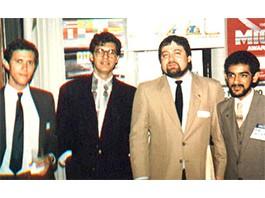 Mario Divo e outros presidentes da Aiesec do Brasil (Jordi Wieserinck, Gilton Frisina e Delfim Calixto) – São Paulo/Brasil (1985)
