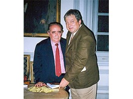 Mario Divo e o escritor imortal Antonio Olinto
